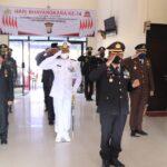 Polres Anambas Upacara Virtual HUT Bhayangkara ke-74